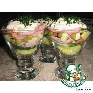 Салат праздничный  картофельный домашний пошаговый рецепт приготовления с фотографиями как готовить
