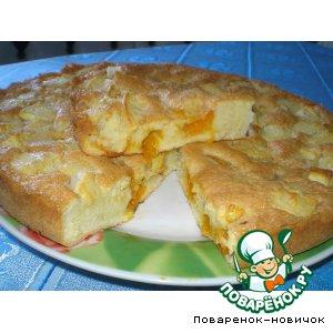 Рецепт Пирог с яблоками и абрикосами