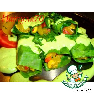 Рецепт Теплые овощные рулетики