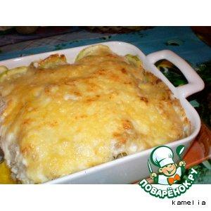 Рецепт Рыба, запеченая с овощами и сыром