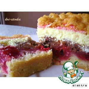 Рецепт Сырник с вишнями (Вишневый творожник)