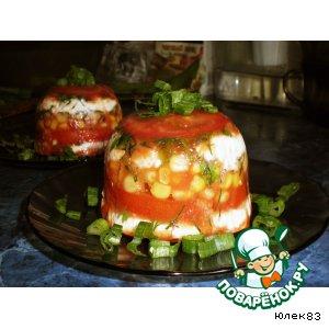 """Рецепт Закуска с сыром """"Solanum melongena"""""""