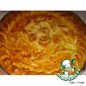 Рецепт Пирог на кефире с лисичками