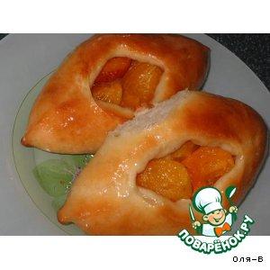 Рецепт Открытые пирожки с абрикосами