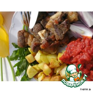 Рецепт Баранья поджарка по-азербайджански