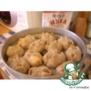 Рецепт Манты из сырого картофеля