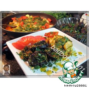 Рецепт Баклажанный теплый салат