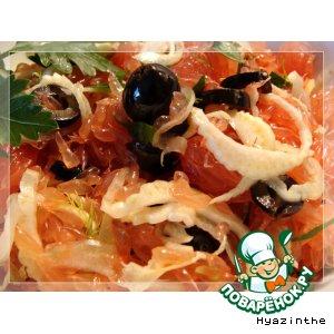 Рецепт Апельсиновый или грейпфрутовый салат с фенхелем