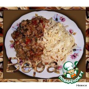 Рецепт Домашняя лапша с мясным соусом