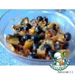 Рецепт Закуска из баклажан с маслинами