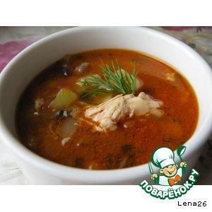 Рецепт Куриный суп с овощами