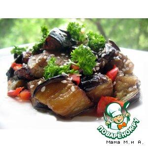 Рецепт Закуска из баклажан в ароматическом маринаде