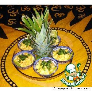 """Рецепт Десерт из ананаса с базиликом """"Танец живота"""""""