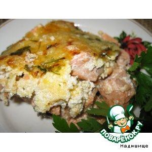 Рецепт Красная рыба под сырным соусом