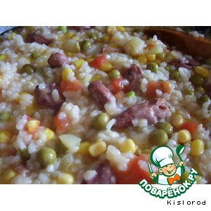 Рецепт Паэлья с куриными сердечками и овощами