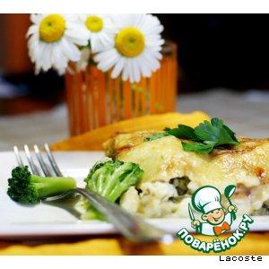 Рецепт Кабачки с брокколи, творогом и сыром