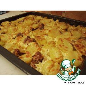 Рецепт Картошечка с мяском в духовке