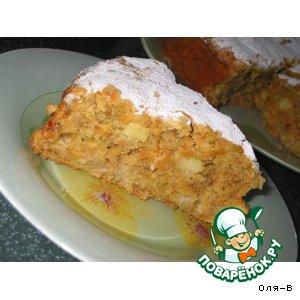 Рецепт Морковно-овсяный пирог с яблоком