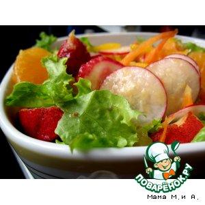 Рецепт Летняя «Пестрая бомба» под острым мандариновым соусом