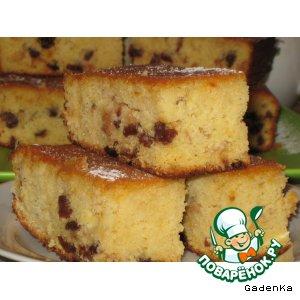 Рецепт Пирог кукурузно-картофельный с апельсиновым сиропом