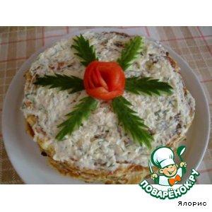 """Рецепт Овощной тортик """"Июльский кабачковый"""""""