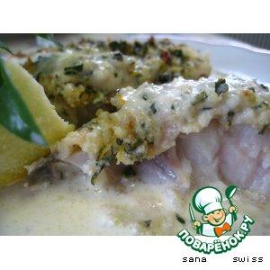Рецепт Рыба,   запеченная   в   сливочно - лимонном   соусе