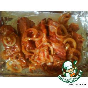 Рецепт Аппетитные свиные рeбрышки