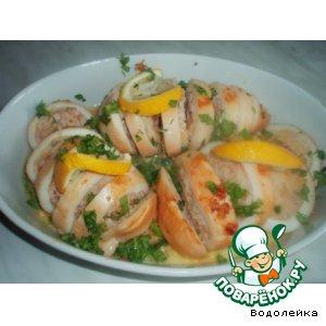Как готовить Фаршированные кальмары вкусный пошаговый рецепт с фото
