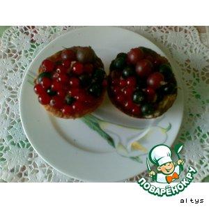 Рецепт Песочные корзиночки с ягодами