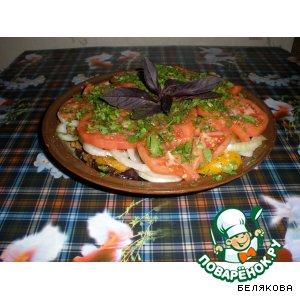"""Рецепт Закуска """"Овощная слойка"""""""