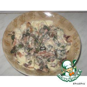 Рецепт Горячий салат из свекольной ботвы