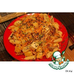 Рецепт Салат из тофу и дайкона по-японски