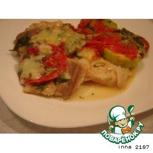 Рецепт Рыба теляпия ( морской язык) с кабачками в микроволновке