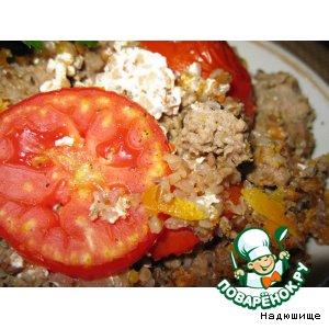 Рецепт Печеная гречка с мясным фаршем