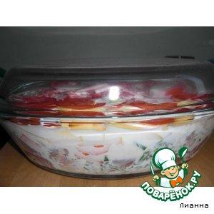 Рецепт Запеканка с бараниной и овощами