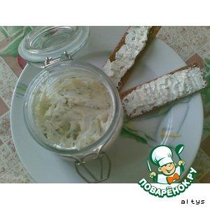 Рецепт Брынза с чесноком и зеленью