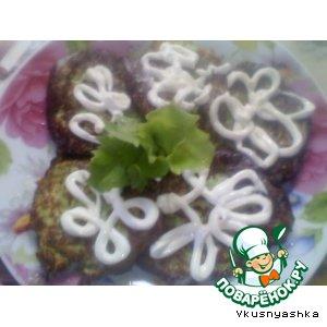 Рецепт Оладушки из кабачков с творогом