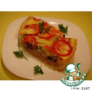 Рецепт Киш с фаршем и овощами