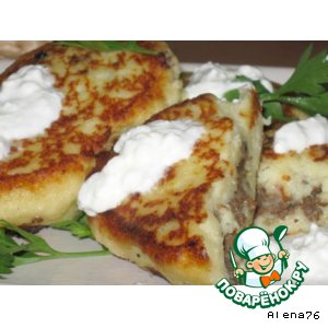 Рецепт Зразы картофельные с мясом