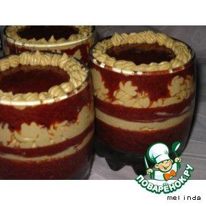 Рецепт Десерт сливовый с творогом