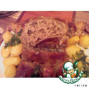 Рецепт Курица фаршированная по-еревански с блинами