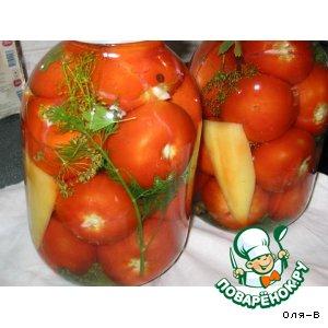 Готовим Шпигованные томаты с лимонной кислотой домашний рецепт приготовления с фото