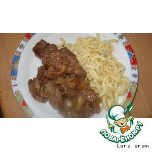 Рецепт Куриная печень в карамельном соусе