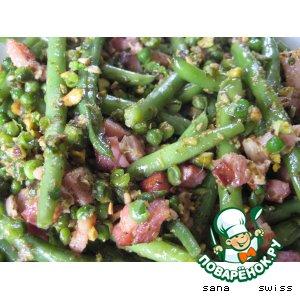 Рецепт Закуска   из   зеленой   фасоли   с   беконом