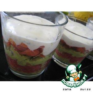 Рецепт Салат-коктейль с авокадо, семгой и грейпфрутом
