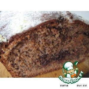 Рецепт Шоколадный кекс с маком и орехами