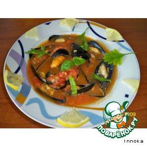 Рецепт Итальянский суп c мидиями  (zuppa  di cozze)