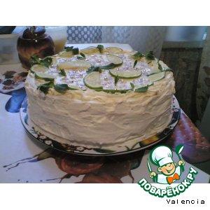 Рецепт Йогуртовый торт с лаймами