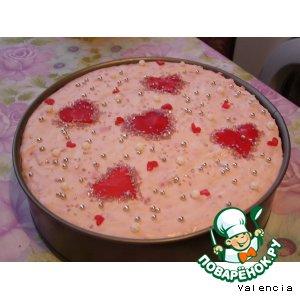 Рецепт Йогуртовый торт с малиной