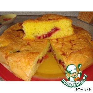 "Рецепт ""Простейший пирог со сливами"""